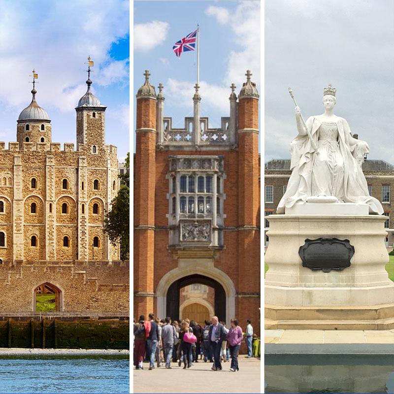 Kensington Palace + Tower of London + Hampton Court Palace