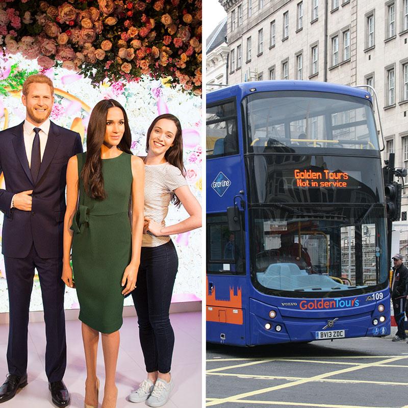 Madame Tussauds + Golden Tours Bus (24 Hrs)